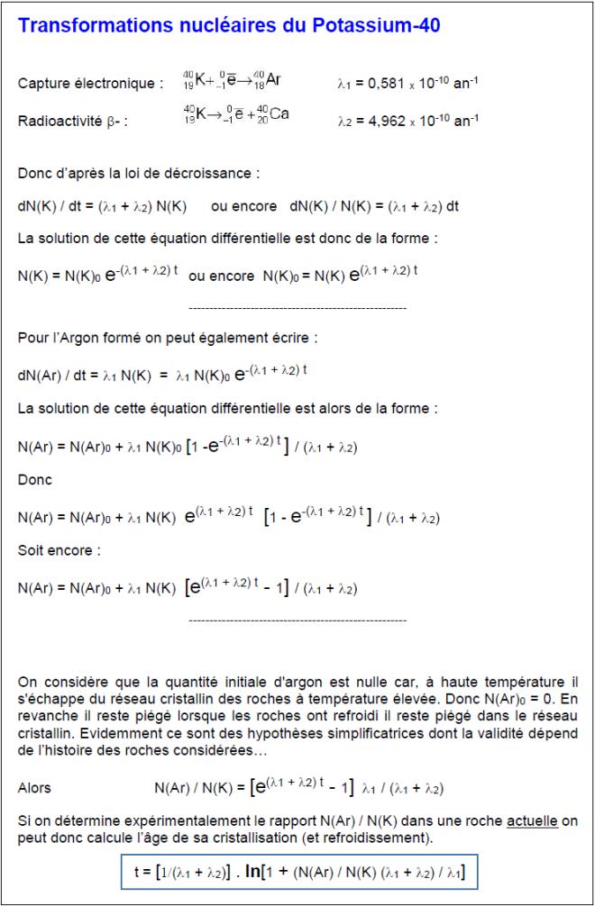calcul k-ar